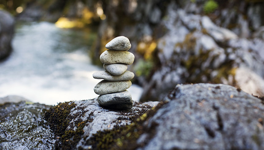 stacked rocks representing the path to fertility