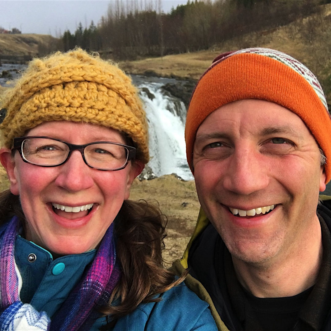 Bellevue fertility specialist Dr. Angela Thyer hiking with her husband