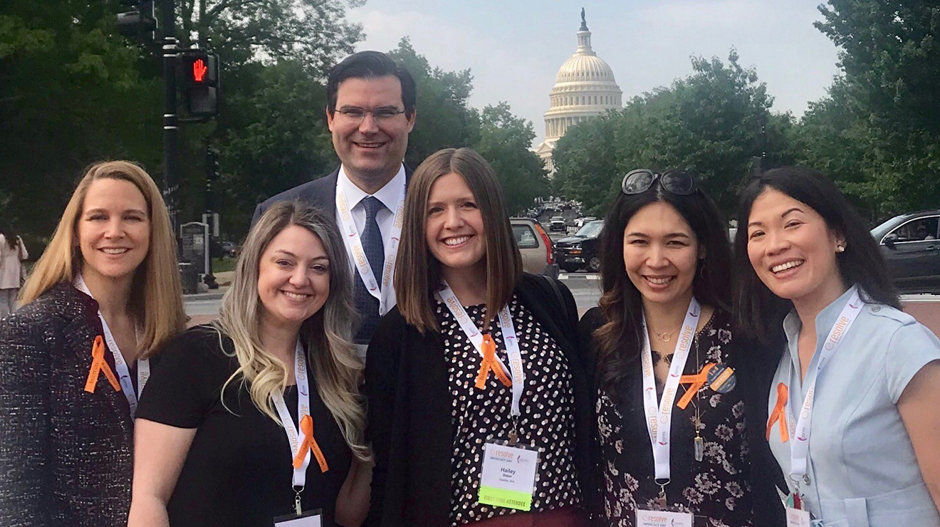 Group gathered for fertility care advocacy event, Advocate for Access